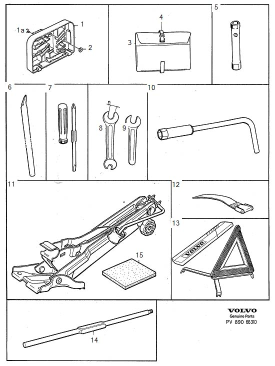 Tools and jack Diagram