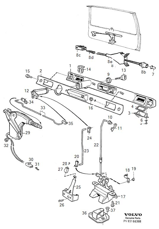 gmc door latch mechanism diagram