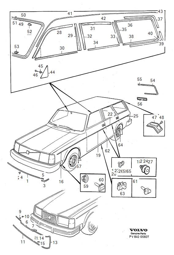 Diagram Trim mouldings 5-Door -1980 for your Volvo 240