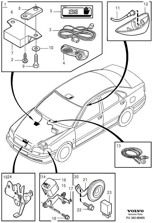 30870938 volvo relay electr horn volvo parts. Black Bedroom Furniture Sets. Home Design Ideas