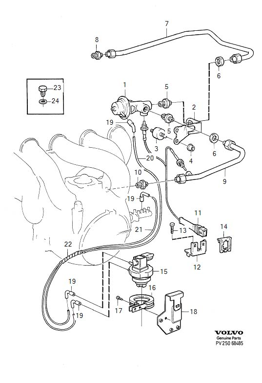95 volvo 960-- removing  cleaning egr valve