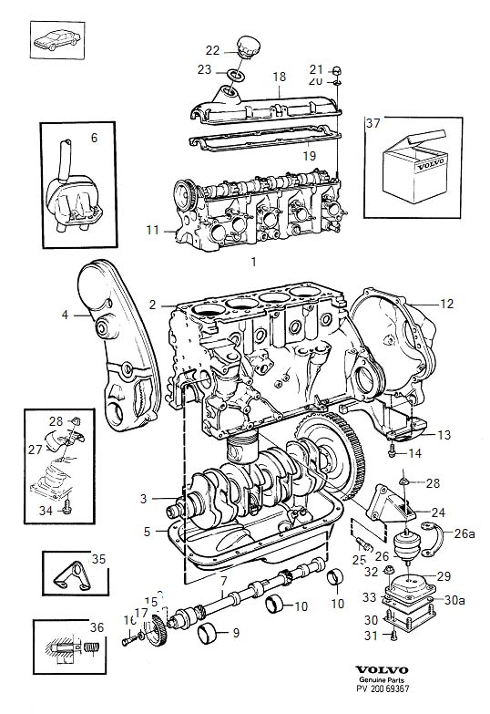 00 volvo s80 parts diagram