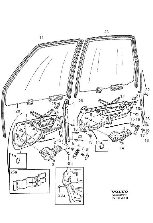 new lots of 2 window regulator roller  volvo 1992