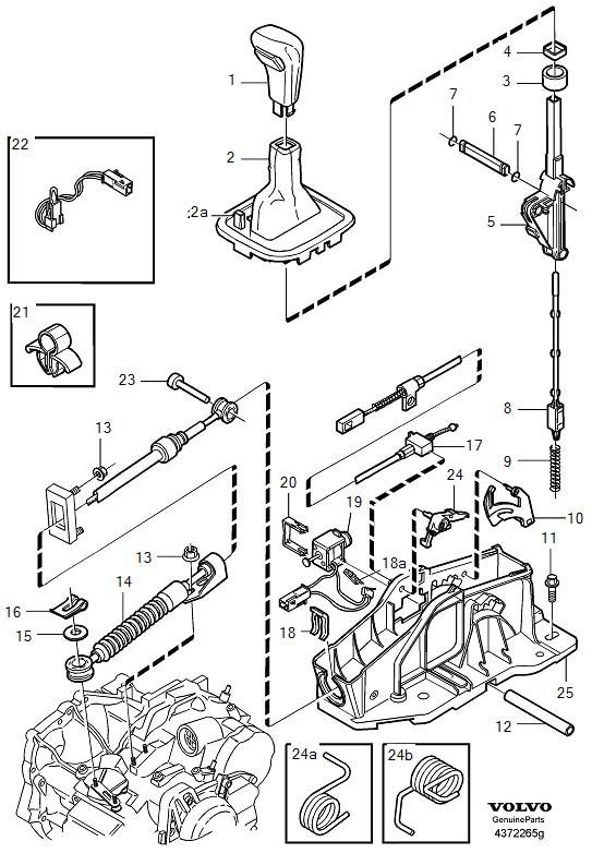 9181356 gear shift lever knob fits volvo s40 2000 volvo v40 2000