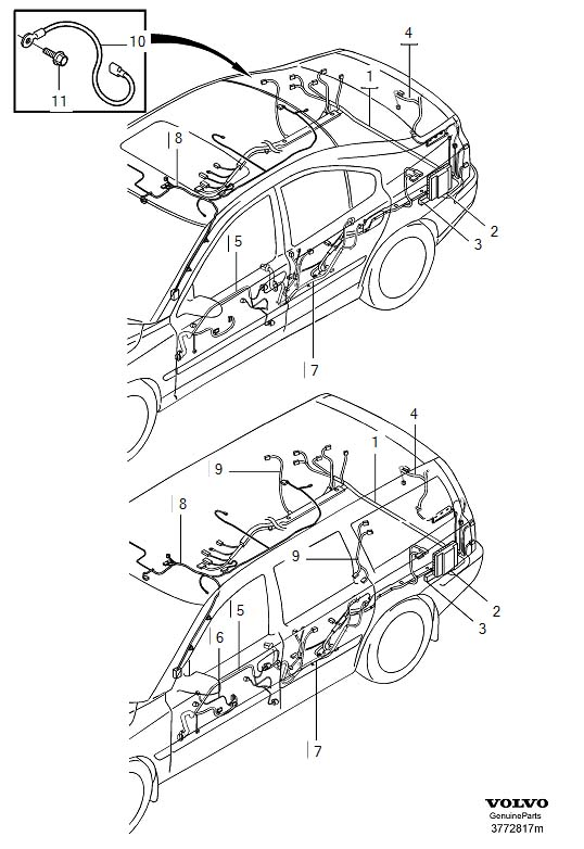 Volvo S60 Wiring Diagram On 2004 Volvo V70 Headlight Wiring Harness
