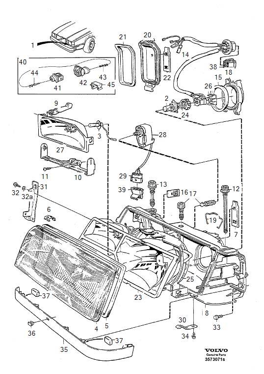 service manual  how to ajust headlight beam 1996 volvo 960