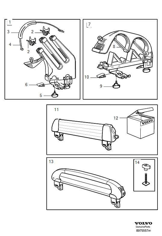 Ski holder snowboard carrier roof Diagram