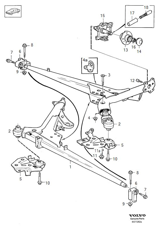 volvo s80 rear suspension diagram