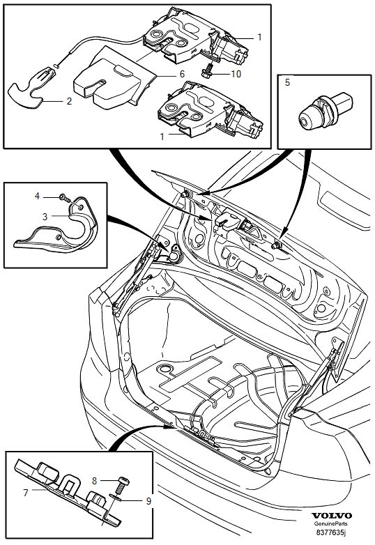 Volvo S40 Boot Lock Wiring Diagram