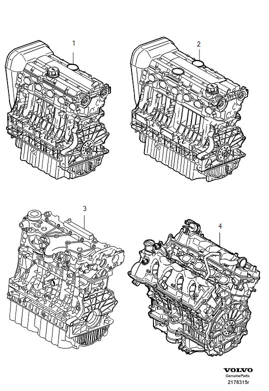 2005 volvo xc90 2 5l 5 cylinder turbo engines replacement