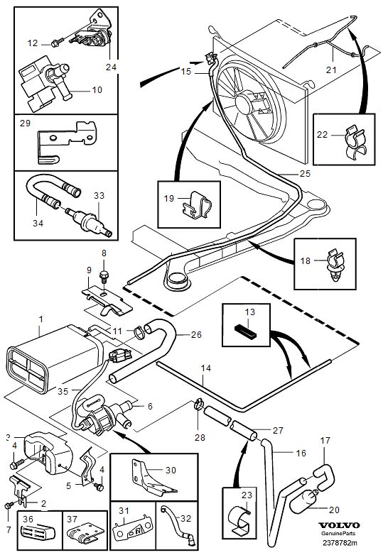 Volvo S80 Evap Canister Location on 2004 hyundai santa fe wiring diagram