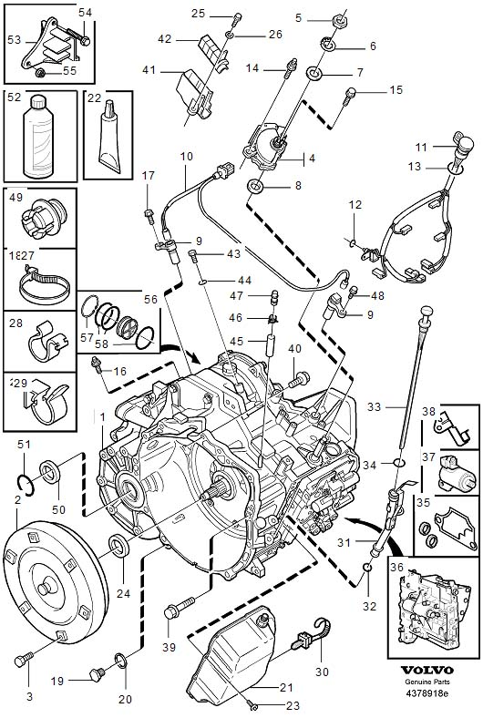 2002 Volvo V70 Xc Transmission on volvo s60 engine mount diagram